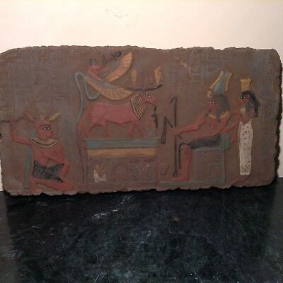 Rare Antique Ancient Egyptian Stela pharao Amenhotep God Khnum Cobra1386–1349BC