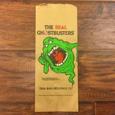 Vintage 80S Nos Carrousel Products The Real Ghostbusters Paper Bag Slimer
