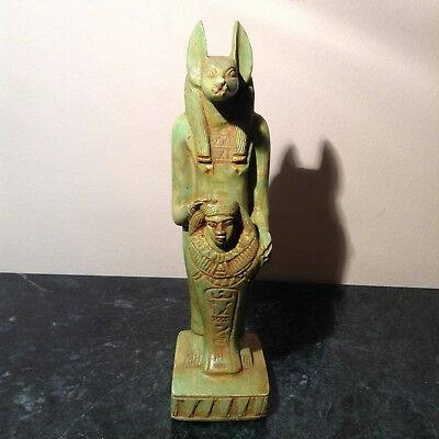 Rare Antique Ancient Egyptian Statue God Anubis Hold Ushabti Horemheb1319-1292BC