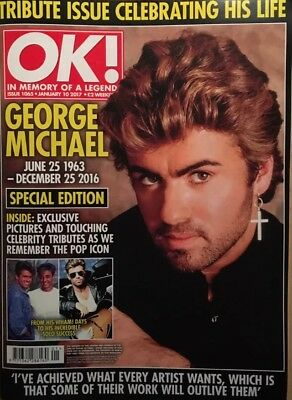 OK magazine January 10 2017 George Michael TRIBUTE ISSUE *NEW
