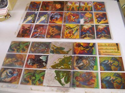 45 Fleer Ultra Spiderman Trade Cards 1995 slot plastic holders Excellent cond.