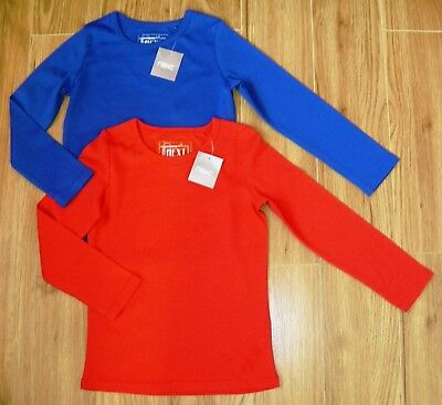Bnwt Next Girls Long Sleeved Tops 5 Yrs 4-5 New Red Blue Christmas Party Winter