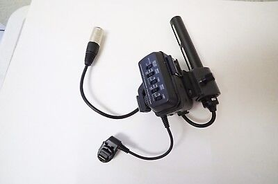 Sony XLR adapter for DSR PDX10 HVR A1U  Microphone with 1-542-296 Shotgun Mic