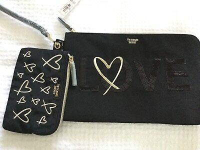 VICTORIA'S Secret Nylon Clutch and wristlet set, new with tag