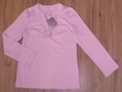 Bnwt Next Girls Pink Sequine Top 5 Years 4-5 New Party Christmas T-Shirt Dress