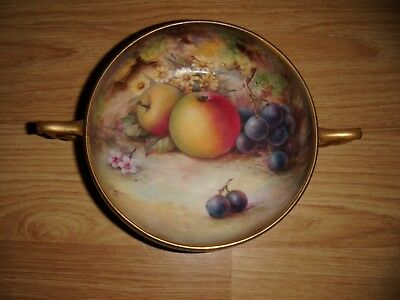 Exquisite Royal Worcester Hand Painted  Fruit Bowl ~ Signed T Lockyer ~ A/f