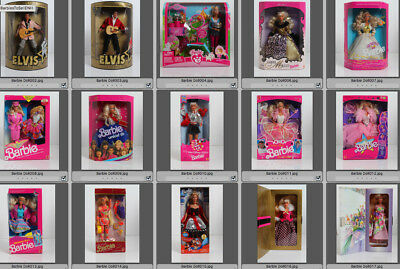 Lot of 58 Collector Barbies, Mint Condition
