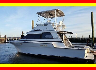 NO RESERVE Luhrs Tournament 342, Well Tuned Twin Crusaders Hot/Cold AC. Turnkey