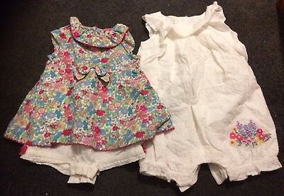 3-6 Months Baby Girl Bundle 2 Moonson Outfits In Gorgeous Condition