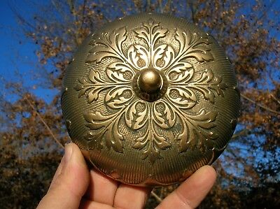 Rare Vintage Old Antique Ornate Victorian Bronze Door Bell for Parts or Display