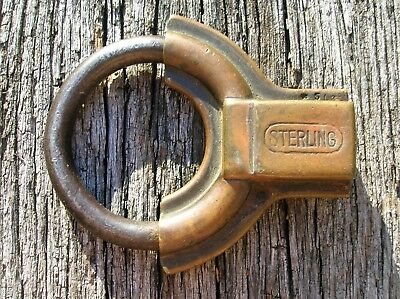 Vintage Old Antique Sterling Lock Co Minneapolis MN Brass Padlock Pat 1924