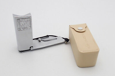 Chrome Olympus Pen Flash Side Flash Adapter w Soft Case in Excellent Condition!