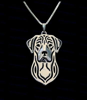 Labrador Retriever  Dog Pendant Necklace Silver Tone  ANIMAL RESCUE DONATION