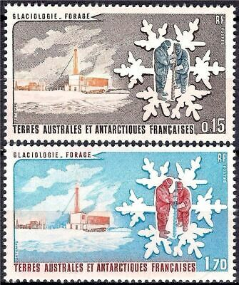 FSAT/TAAF 1984 Glaciology Drilling Base Station Science Research Scientists MNH
