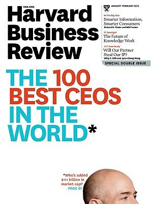 Harvard Business Review, January - February 2013, The 100 Best CEOs in The World