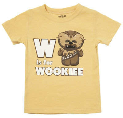 Star Wars W Is For Wookiee Chewbacca Licensed Toddler Baby T-Shirt - Yellow