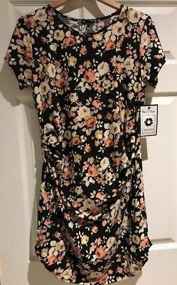 Black Blush & Cream Floral Maternity Dress Sz Large NWT