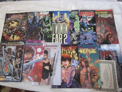 collection of Comics from the 90's Avengelyne, Chastity, Catwoman, Wolverine, Da