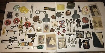 Lot Of Junk Drawer Cleanout Knick Knack What Not Vintage Antique Repurpose Decor