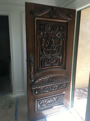 Antique Craftsman Style Entry Door.