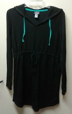 Oh Baby! maternity hoodie tunic sz S black new with tags