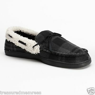 Urban Pipeline Gray Plaid Indoor/Outdoor Slippers ~ Size XL (12-13) ~ NWT