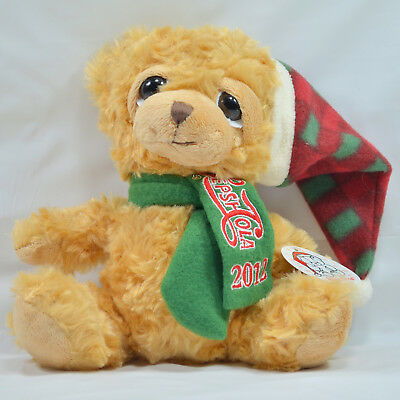 Pepsi Cola Collectible Teddy Bear Plush with Tags Scarf Hat Stuffed Animal 2012