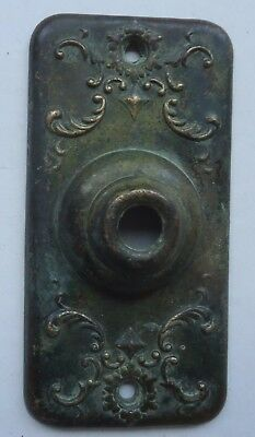 Antique Victorian Brass Fancy Door Bell Face Plate