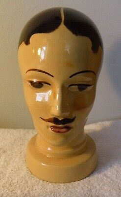 Vintage Art Deco W German Mannequin Ceramic Male Head