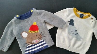 Mini Boden Baby Boys Mouse Sweater Jumper Holiday Size 6 - 12 months