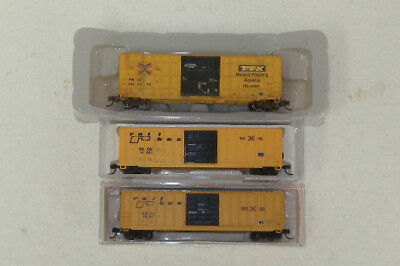 3 x Various Makers N Scale TTX/Railbox 50' Boxcars