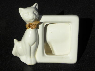 Vintage Emson Ceramic White Cat Picture or Photo Frame