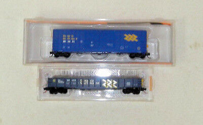 2 x Fox Valley/MicroTrains N Scale Ontario Northland Freight Cars