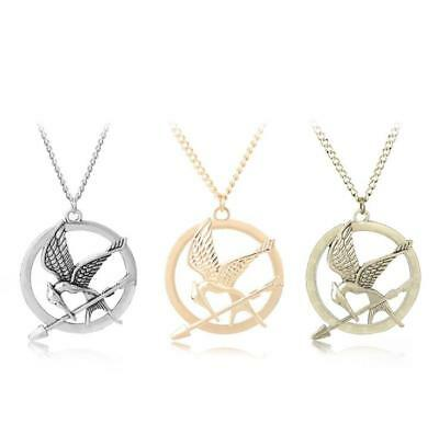 The Hunger Games Mockingjay Bird Pendant Necklace Gold/Bronze/Silver Movie Jewel