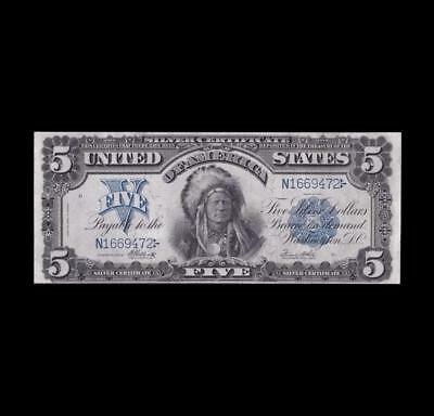 1899 $5 Silver Certificate Chief Strong Very Fine+