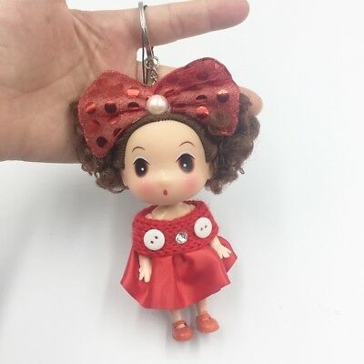 Creative Barbie Baby Dolls ball key chain Plush Pendant Key Ring Chain  Keychain