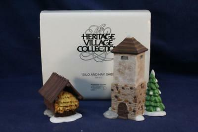Dept 56 Heritage Collection-Dicken's Village Accessory-Silo & Hay Shed 56.59501