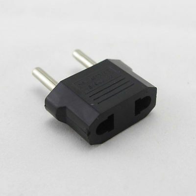 1X Black US USA To EU European Travel Charger Plug Adapter Converter  nm