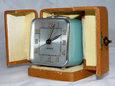 French Travelling Alarm Clock Bayard Art Deco Fully Working