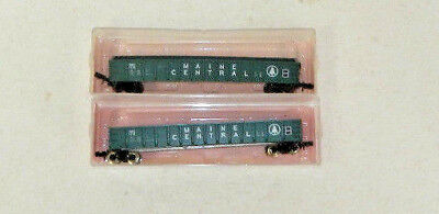 2 x Roundhouse N Scale Maine Central 50' Gondolas
