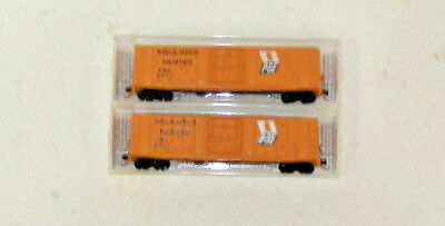 2 x MicroTrains N Scale Pacific Great Eastern 50' Boxcars