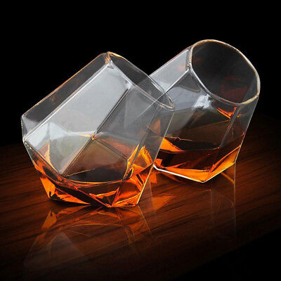 4pcs Diamond Whiskey Glass Bar Wine Glasses Cup Hand Blown Vodka Shot Wine Glass