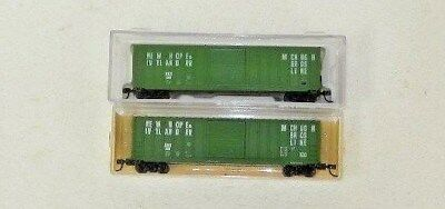 2 x AJCC/Roundhouse N Scale New Hope & Ivyland 50' Boxcars