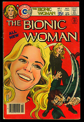 Bionic Woman #1 First Issue Charlton TV Comic 1977 VG-