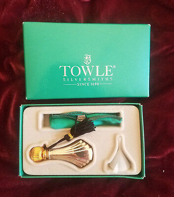Towle Sterling Silver Perfume Bottle Flask Boxed Set With Funnel