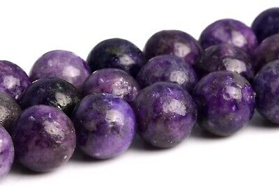 8MM Genuine Natural Purple Lepidolite Grade A Round Gemstone Loose Beads 15.5""