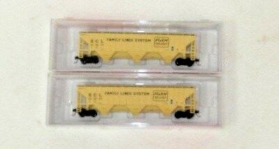2 x InterMountain N Scale Family Lines System PS-2 Covered Hoppers