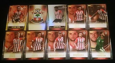 10 x Southampton FC Topps Premier 2014/15 Soccer Cards INSERTS Team Set