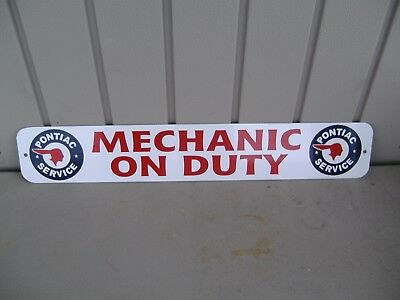 PONTIAC MECHANIC ON DUTY OIL & LUBE SERVICE STATION GAS PUMP SERVICE  sign