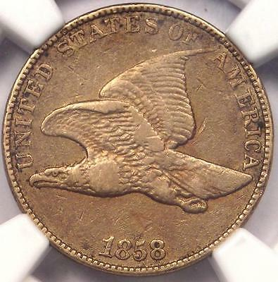 1858 Flying Eagle Cent 1C - NGC XF Details (EF) - Rare Early Certified Penny